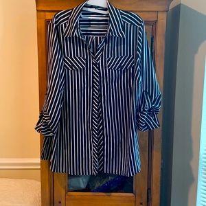 Notations Woman L/XL button down shirt